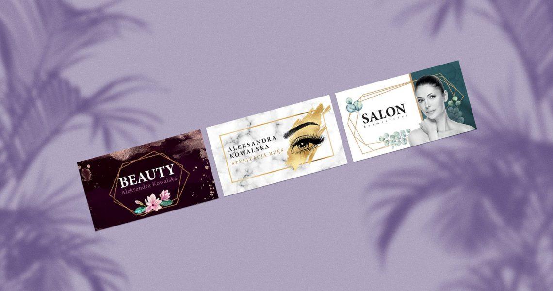 8 fajnych projektów wizytówek kosmetycznych